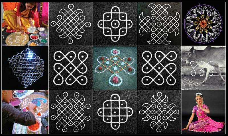 Traditional & New Media Kolam Designs
